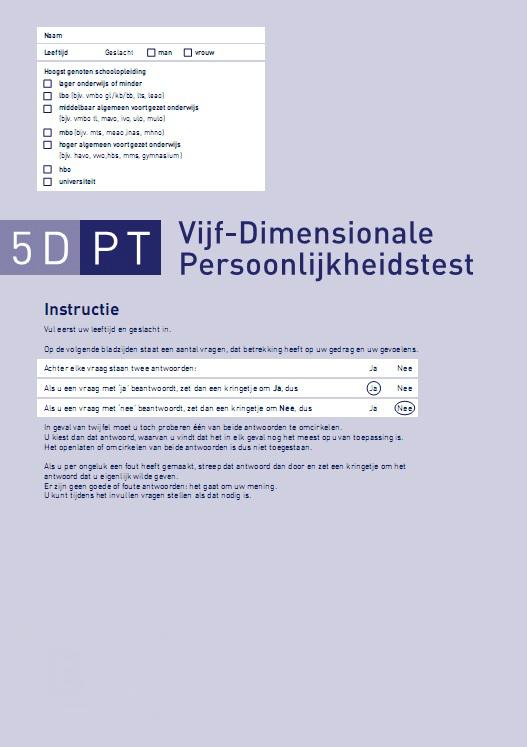 5DPT: Zelfscorende formulieren